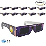 FOUMECH Solar Eclipse Glasses - CE and ISO Certified - Safe Solar Viewing - Viewer and Filter-10 pack Assorted- Eye Protection (Style-4)