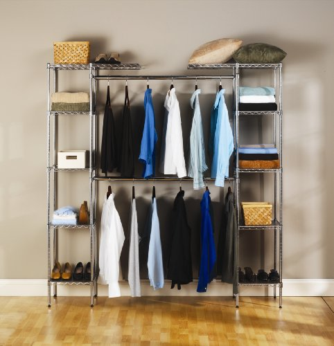 Seville Classics Expandable Closet Organizer System - bedroomdesign.us