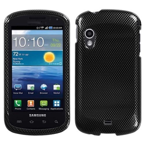 Carbon Fiber Phone Protector Faceplate Cover For SAMSUNG I405(Stratosphere) (Faceplate Fiber Protector Carbon)