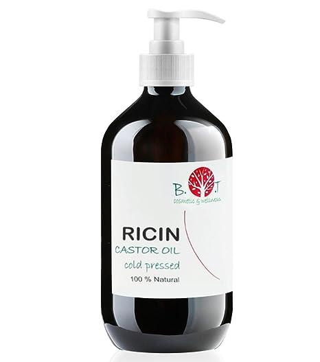 Aceite de Ricino Prensado en Frío 100% Natural Hidratante Uñas, Cabello, Barba,
