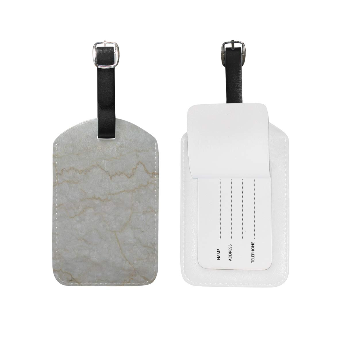 Aibileen Fashion Marble Luggage Tag for Baggage Suitcase Bag Leather 1 Piece