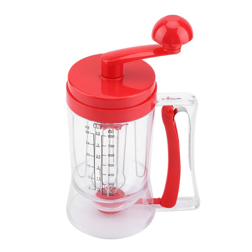 Pancake Batter Dispenser - Hand-held Manual Pancake Cupcake Batter Mixer Dispenser Blender Machine Baking Tool