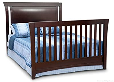 Full Size Conversion Kit Bed Rails for Simmons/Delta Childrens Adele Lifetime Crib - Caffe