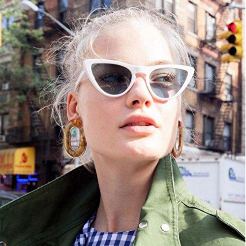 Mujeres Acetato Película Unisexo Ojo Happy Lente de Sol Gato Gafas B Sombras de de Aviador del UV day de Marco Fiesta La Las Marco wq00pvtT