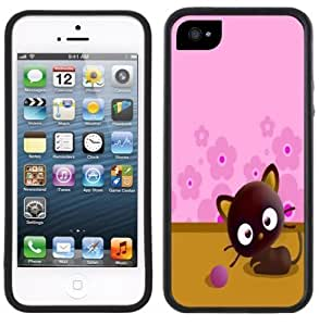 Chococat Cute Kitten Cat Handmade iPhone 5 5S Black Case