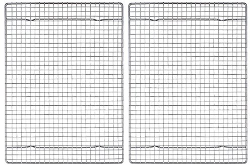 Mrs. Andersons Baking Professional Half Sheet Baking and Cooling Rack, Heavyweight Chrome, 16.5-Inches x 11.75-Inches, Set 2