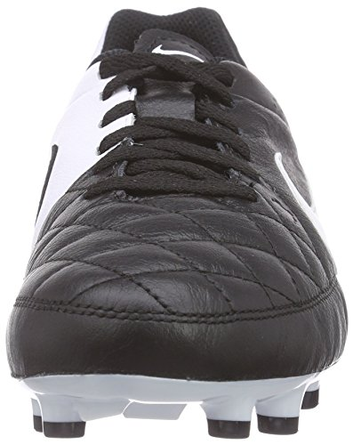 Nike White Black Tiempo Leather Boots Ground Football Kids' Unisex Black Genio Firm rHzBUrv