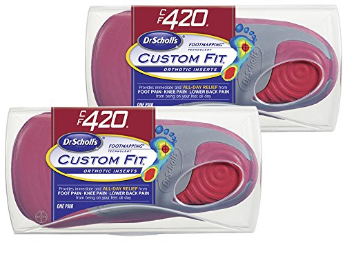 Dr. Scholl's CFO Custom Fit Orthotics CF420, 2-Pair, Visit a Custom Fit Kiosk with Advanced Footmapping Technology to Get Our Recommended Custom Fit Number For (Custom Orthotics)
