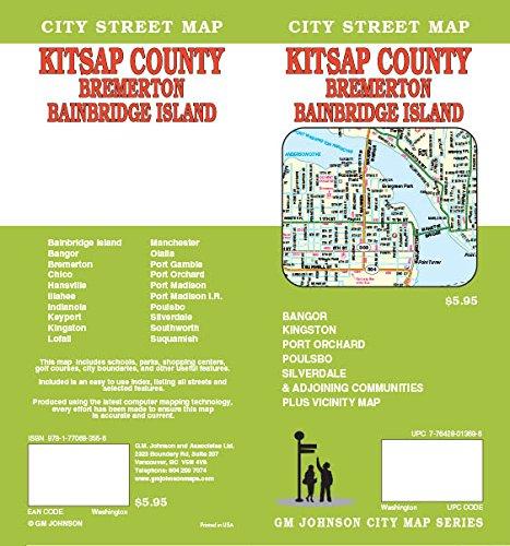 Kitsap County / Bremerton / Bainbridge Island, WA Street Map ... on road map of wenatchee wa, road map of everett wa, road map of bremerton wa, road map of skagit county wa, road map of arlington wa, road map of sedro woolley wa, road map of kent wa, road map of cheney wa,