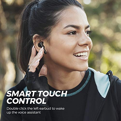 SOUNDPEATS TrueCapsule Wireless Earbuds in-Ear Mono/Stereo Earphones, Bluetooth 5.0 Headphones with Upgraded Microphone (Smart Touch, IPX5, 24 Hours Playtime)