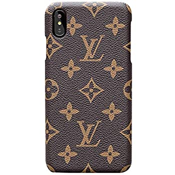 various colors 4f361 5dac1 iPhone X Xs Case Elegant Luxury PU Leather Monogram Pattern Classic Style  Cover Case for Apple iPhone X Xs (Large Logo)