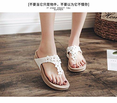 freddi comfort Bianco di Donna pantofole fiori piedi spesso fondo Nuova piedi skid XIAOGEGE spiaggia Summer costa maschere e Tq0SSx7w