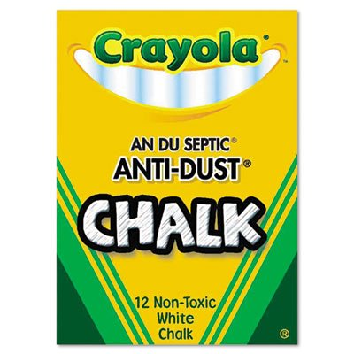 Crayola Anti-Dust Chalk CHALK,ANTI-DUST,12/BX,WE (Pack of100) by Crayola (Image #1)