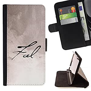 DEVIL CASE - FOR Samsung Galaxy S6 - Feel Calligraphy Paper Handwritten Note Ink - Style PU Leather Case Wallet Flip Stand Flap Closure Cover