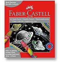 FABER-CASTELL 5281125406 Simli Pastel Boya, 6 Renk