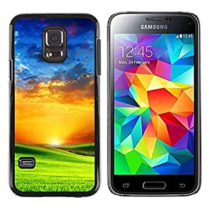 Plastic Shell Protective Case Cover || Samsung Galaxy S5 Mini, SM-G800, NOT S5 REGULAR! || Vibrant Saturated Orange Blue Green @XPTECH