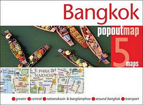 Bangkok PopOut Map: Handy pocket-size pop-up map of Bangkok (PopOut Maps)...