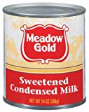 Meadow Gold Sweetened Condensed Milk, 14 Ounce (Pack of 24) by Meadow Gold