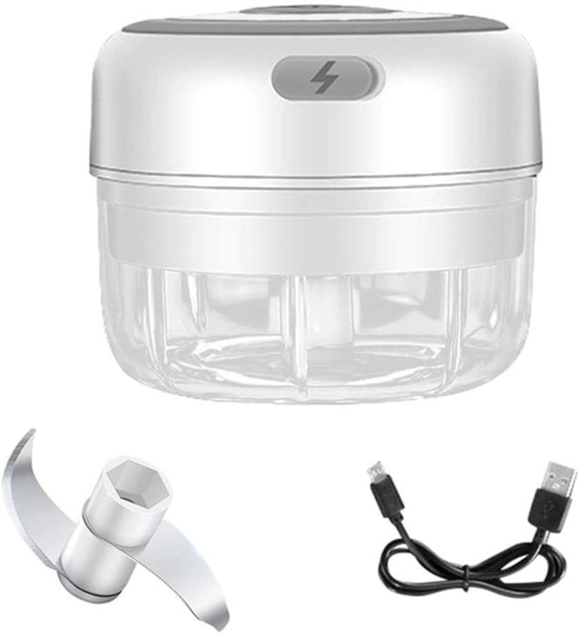 Hovico Electric Mini Garlic Chopper, Food Processor Mincer Blender Mixer, Food Chopper Blender for Chili Onion Vegetables Fruits (100ml)