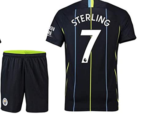 free shipping dfba4 b1448 Amazon.com: LISIMKE Soccer Team 2018/19 Manchester City Away ...