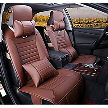 Amooca Car Seat Protector Cover Pad Automotive Vehicle Leather Cushion Orange Color 10pc Fit Most