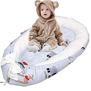 Abreeze Baby Bassinet for Bed -Kangaroo Baby Lounger – Breathable & Hypoallergenic Co-Sleeping Baby Bed – 100% Cotton Portable Crib for Bedroom/Travel
