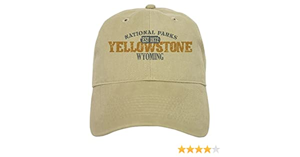 becc97ac9 CafePress - Yellowstone National Park WY Cap - Baseball Cap with Adjustable  Closure, Unique Printed Baseball Hat White