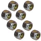 """Pack of 8 3/8"""" UNF Wheel Nuts Nut For Trailer Suspension Hubs Erde Daxara"""