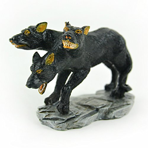 Touch of Nature 55605 Cerberus Fairy Garden 3 Headed Dog, -