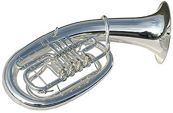 Band & Orchester Blasinstrumente Bb Kaiserbariton Bariton Silber Euphonium Drehventile