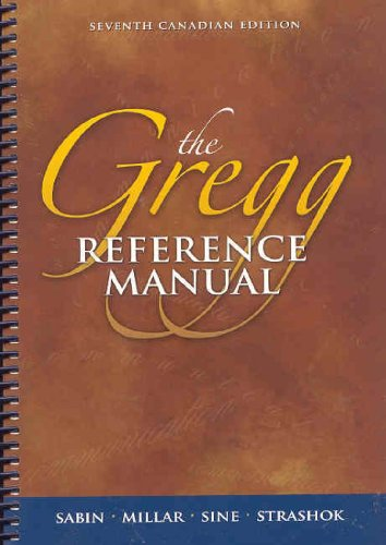 The Gregg Reference Manual, Seventh Edition