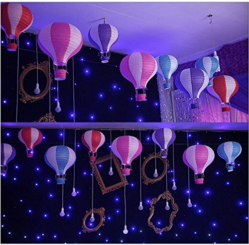 Hot Air Balloon Paper Lantern Reusable Chinese Japanese Party Ball Lamp Decoration 4 Festival Anniversary Christmas Wedding Engagement Happy Birthday String Light Rainbow Star Mix Color Set of 12 by Hot Air Balloon Paper Lantern (Image #5)