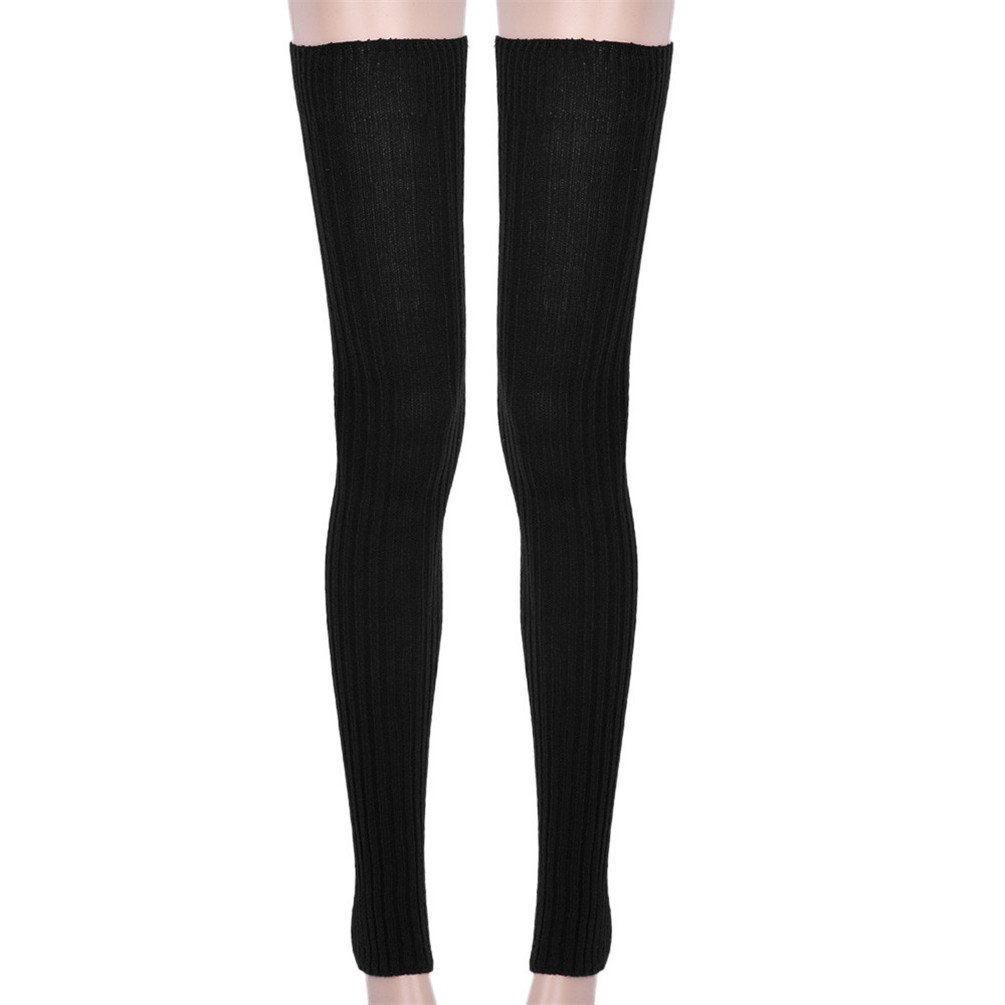Ponce 2 Pair Leg Warmers Newly Design Super Long Winter Warm Over Knee High Socks Skinny Stockings