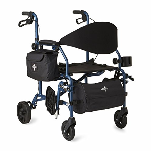 Medline Combination Rollator Transport Chair, (Combo Walker)