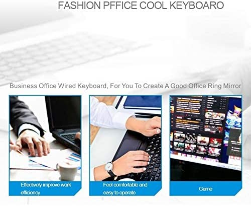 ZGB G21 104 Keys USB Wired Mechanical Colorful Backlight Office Computer Keyboard Gaming Keyboard Black Color : White