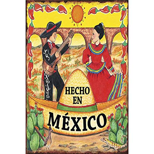 Easy Painter Mexico Poster Metal Tin Sign 2030 cm Sticker Decor Bar Pub Home Vintage Retro Poster Music Sticker