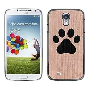 Funda Cubierta Madera de cereza Duro PC Teléfono Estuche / Hard Case for Samsung Galaxy S4 / Phone Case TECELL Store / La pata del perro minimalista mascotas Dog Paw Minimalist Pet