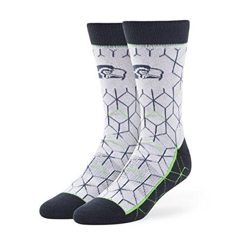 NFL Seattle Seahawks '47 Bayonet Fuse Socks, Gray, Large , 1