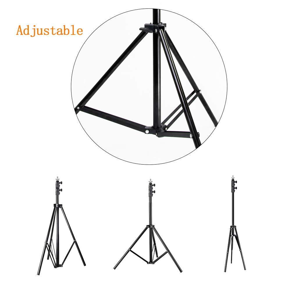 MOUNTDOG Upgraded 6.5 Ft/ 200CM / 78inch Photography Tripod Light Stand Aluminum Alloy Photographic Stand for Studio Reflector Softbox Umbrellas-6.5ftX2 ¡­ by MOUNTDOG (Image #5)