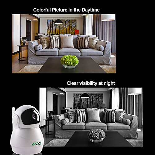 Wireless IP Camera 1080P,Nanny Cam,360 Degree Smart WIFI Camera Pan/Tilt/Zoom with Cloud Service,3D Image Touch Navigation,Panoramic View Night Vision,Two-Way Audio,Motion Detection for Elder,Baby,Pet