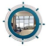 GAOJIAN European-style circular mirror decorative mirrors Wall-mounted rudder bathroom mirror Designer table mirror , d
