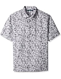 Perry Ellis Men's Big and Tall Shadow Geometric Shirt