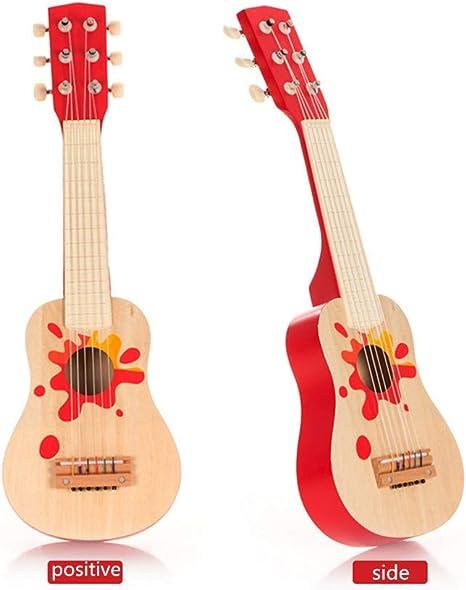 WDXIN 1Instrumento de Guitarra de Juguete de Madera para niños ...