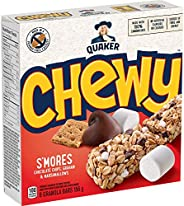 QUAKER Chewy S'mores Granola Bars (6 Bars x 26 g), 156 g (Pack of