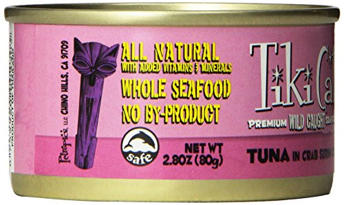 TIKI Cat Canned Food for Cats,  Lanai Tuna Crab Recipe    (Pack of 12 2.8-Ounce Cans)