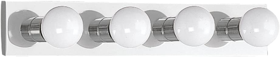 Sea Gull Lighting 4738-05 Center Stage Four-Light Bath or Wall Light Fixture, Chrome Finish