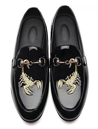 Dress Scarpe personalizzate Wedding Shoes black Nightclub ricamo HYLM uomo Uomo da per Scarpe Scorpion ZgqqPfnp
