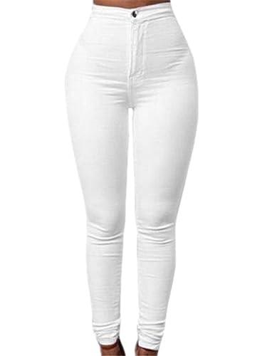 SKY Mujeres Denim Jeans Nueva Moda Multi Colores Chica Casual Pantalones Vaqueros Cintura los pantalones del lápiz del estiramiento