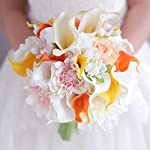 IFFO-Yellow-orange-Calla-Lily-bouquet-Dahlia-Flower-bouquet-wedding-Bride-Bridal-Artificial-Flowers-Handmade-decoration-bouquets