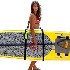 Ready for the best paddleboard carrying strap that you will ever use? We are so confident that you will be happy with our product that we offer a 100% Money Back Guarantee! Getting your paddleboard, paddle, water bottle, phone, etc. to and fr...